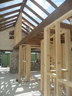 Wooden-frame-construction