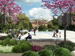 Haghia Sofia urban axis redesigned
