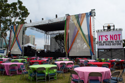 Long Beach Festival Stage Setup