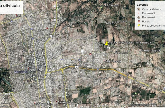 Villa Nueva District. Paved, at 5 km of Mendoza City, at 1.000 m of the main access to Mendoza City and at 10 minutes of Mendoza Airport.