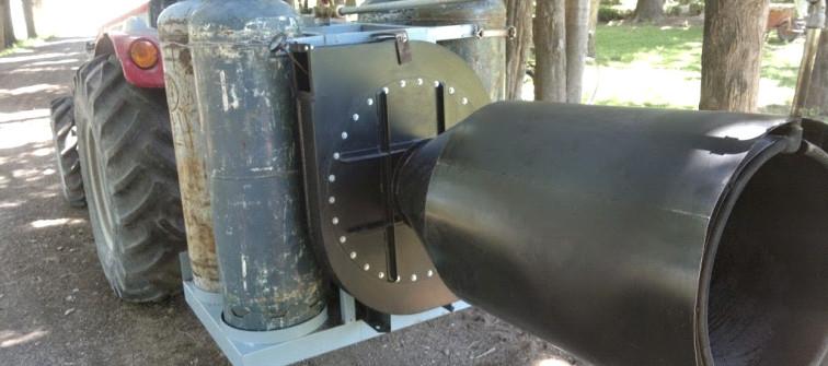 Turbina a gas para combatir las heladas