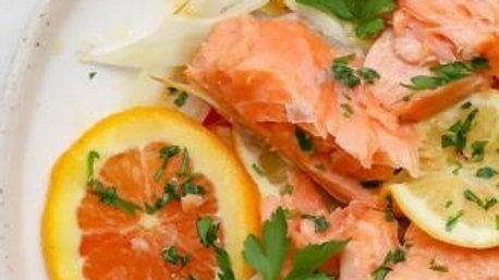 Slow Roasted Salmon with- Citrus
