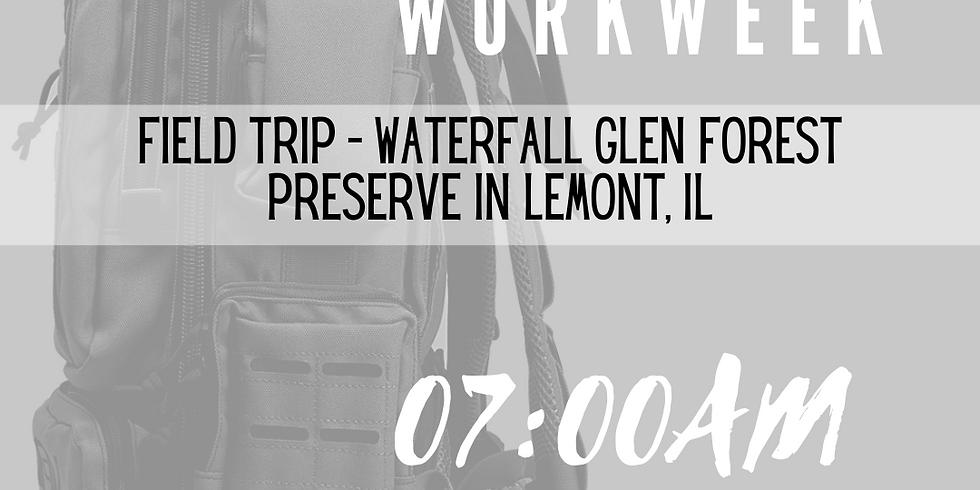 #RUCKTHEWORKWEEK at Waterfall Glen Forest Preserve