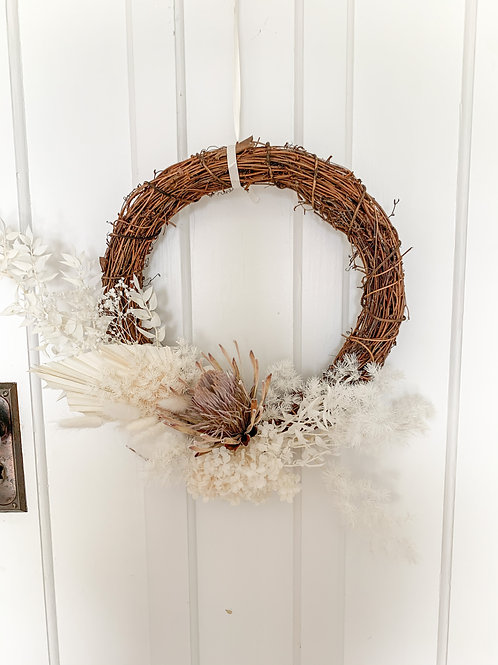It's a White Christmas wreath