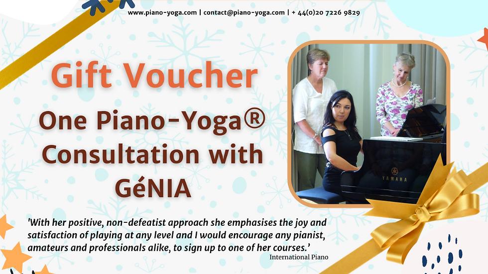 One Piano-Yoga® Consultation with GéNIA
