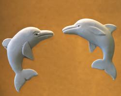 קישוטי סוכר-דולפינים