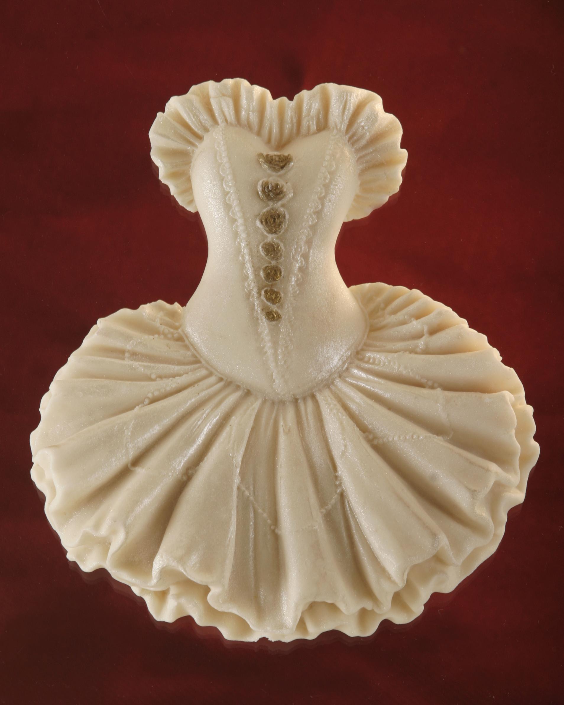קישוטי סוכר-שמלת נשף