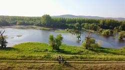 Postkarte Donau Serbien
