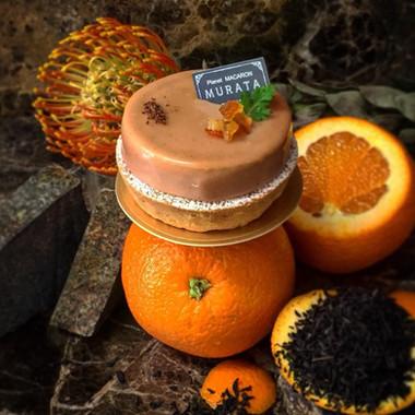 紅茶とオレンジのタルト