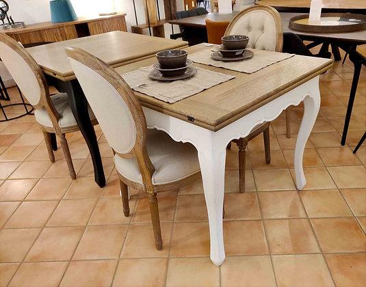 Superbe petite table à rallonges chêne et charme !