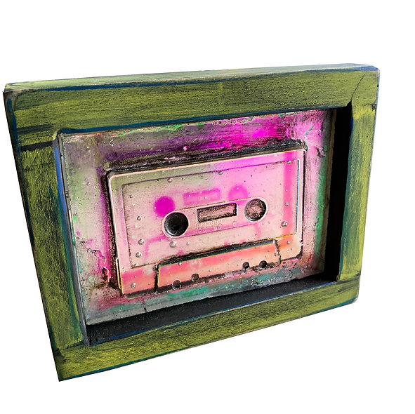 Mixed tape with Green Frame