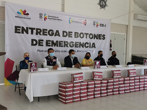 Con la entrega de 100 Botones de Emergencia se reforzará el combate al delito en Huetamo: SSP