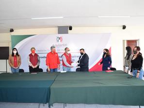 Remite PRI expedientes de aspirantes a diputaciones locales y presidencias municipales para dictamen