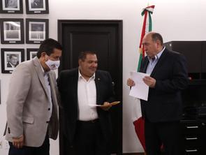 Se reúne Bladimir Gutiérrez con coordinadores del PRI en San Lázaro