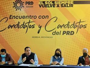 Pide PRD a sus candidatos a diputados locales, llevar propuestas que defiendan las causas ciudadanas