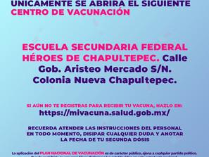 Secretaría de Salud y Gobierno de México continuarán con aplicación de 1ª vacuna Covid en Morelia