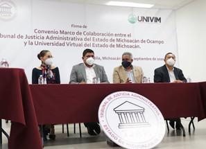Firma TJAM convenio con UNIVIM