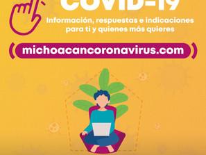 """Más de 10 mil consultas en la app """"COVID-19 Michoacán"""""""