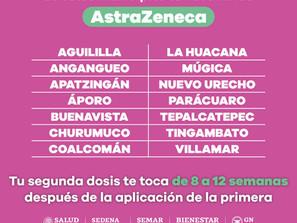 Cuenta vacuna AstraZeneca contra COVID-19, con intervalo de aplicación de 84 días
