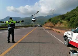 Realiza SSM traslado aéreo a Morelia de persona lesionada en accidente