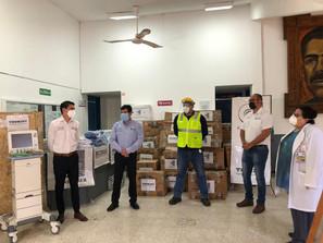 Recibe Hospital de Lázaro Cárdenas donación de equipo de protección personal y dos ventiladores