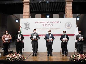 Recibe Congreso del Estado informe de labores 2020 del TJAM.