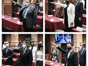 Rinden protesta 4 diputados suplentes