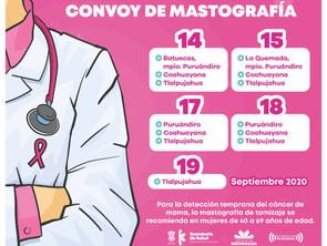Con mastógrafos móviles, promueve SSM detección oportuna de cáncer de mama