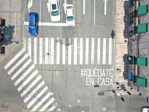 Con mensajes en vialidades, fortalece el Gobierno de Morelia el llamado a quedarse en casa