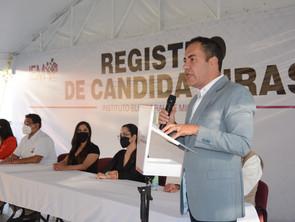 Agradece Carlos Herrera apoyo del PRI para conformar candidatura común