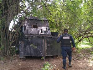 Durante operativo en Aguililla, un detenido, un arma y vehículos asegurados