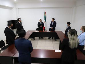 Da posesión Carlos Herrera a nuevo titular de la Consejería Jurídica