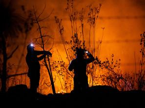 Tras varias horas de labores, brigadistas controlan y apagan incendio en Loma de Santa María