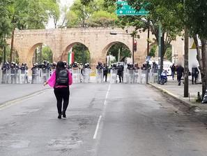 Despliega SSP dispositivo de seguridad en las inmediaciones de la SFA ante manifestación de CNTE