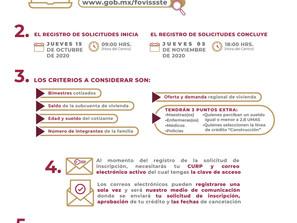 """Publica FOVISSSTE convocatoria para créditos """"Tradicionales"""" mediante el Sistema de Puntaje 2021"""
