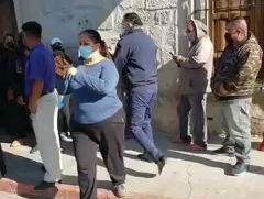 Diputado Baltazar Gaona agrede a Mujeres, apoyado por policía municipal y encapuchados en Tarímbaro