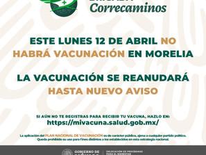 De última hora Gobierno de México cancela continuidad de vacuna COVID en Morelia para este lunes