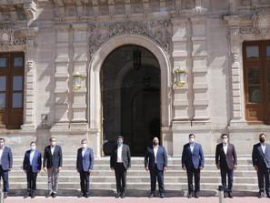 Dejan Silvano Aureoles y otros nueve gobernadores la Conago
