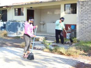 Mantiene SEE acciones de limpieza en planteles educativos de la entidad