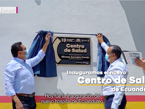"""""""Nuevo Centro de Salud de Ecuandureo permitirá un mejor trato a pacientes"""""""