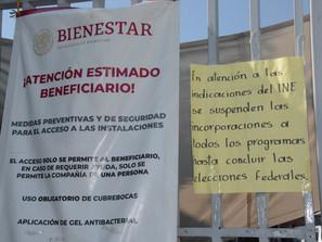 Suspende Bienestar Michoacán trámites, por inicio de campañas electorales