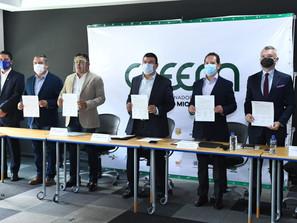 Celebra Sedeco incorporación de Apeam, Atlético Morelia y Pumich, al Consejo Coordinador Empresarial