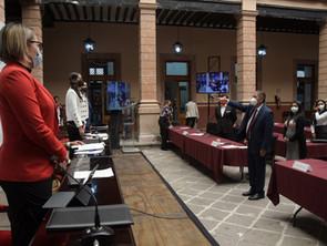 Rinde protesta Humberto Arróniz como presidente municipal provisional de Morelia.