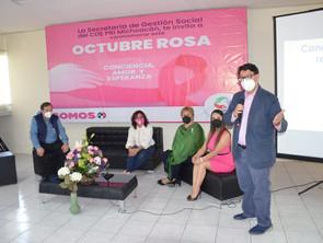PRI Michoacán conmemora Día Mundial de la Lucha contra el Cáncer de Mama