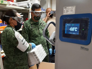 Llegaron ya 39 mil dosis de biológico Pfizer para continuar vacunación en Morelia