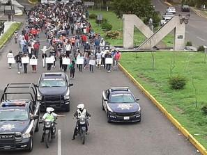 Realiza SSP labores viales ante una manifestación en Morelia