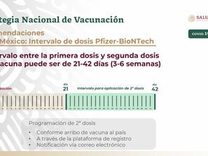 Garantizadas, segundas dosis contra Covid-19 en Michoacán
