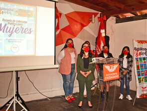 Funda Movimiento Ciudadano Escuela de Liderazgo Político para Mujeres #SinMujeresNoHayMovimiento.