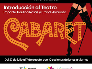 Ofrece Secum curso gratuito de Teatro Cabaret