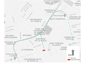 Cierre de 7 días, Av. Madero Poniente por obras de vialidad